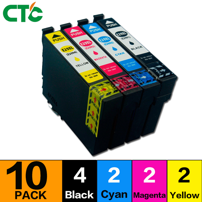 10 Pack T2996 29XL Ink Cartridge Compatible For XP 235Printer XP-335 332 432 435 442 332 342 345 245 247 XP355 35210 Pack T2996 29XL Ink Cartridge Compatible For XP 235Printer XP-335 332 432 435 442 332 342 345 245 247 XP355 352