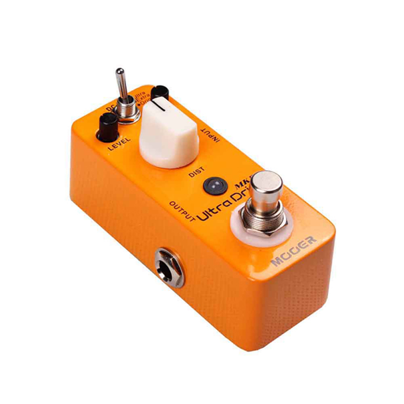 Mooer Full Metal Shell Ultra Drive MKII Distortion Guitar Effect Pedal With Original/Extra/Ultra 3 Working Modes True Bypass mooer hustle drive distortion guitar effect pedal micro pedal true bypass effects with free connector and footswitch topper