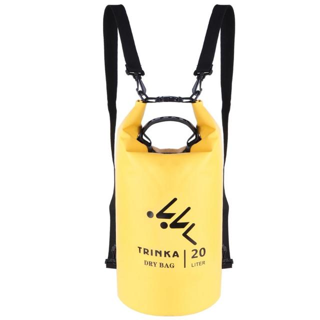 1a905e40ac17 20L Waterproof Dry Bag Sack 2 compartment PVC Backpack Adjustable Straps  with Carrying Handle for Kayaking Camping Swimming