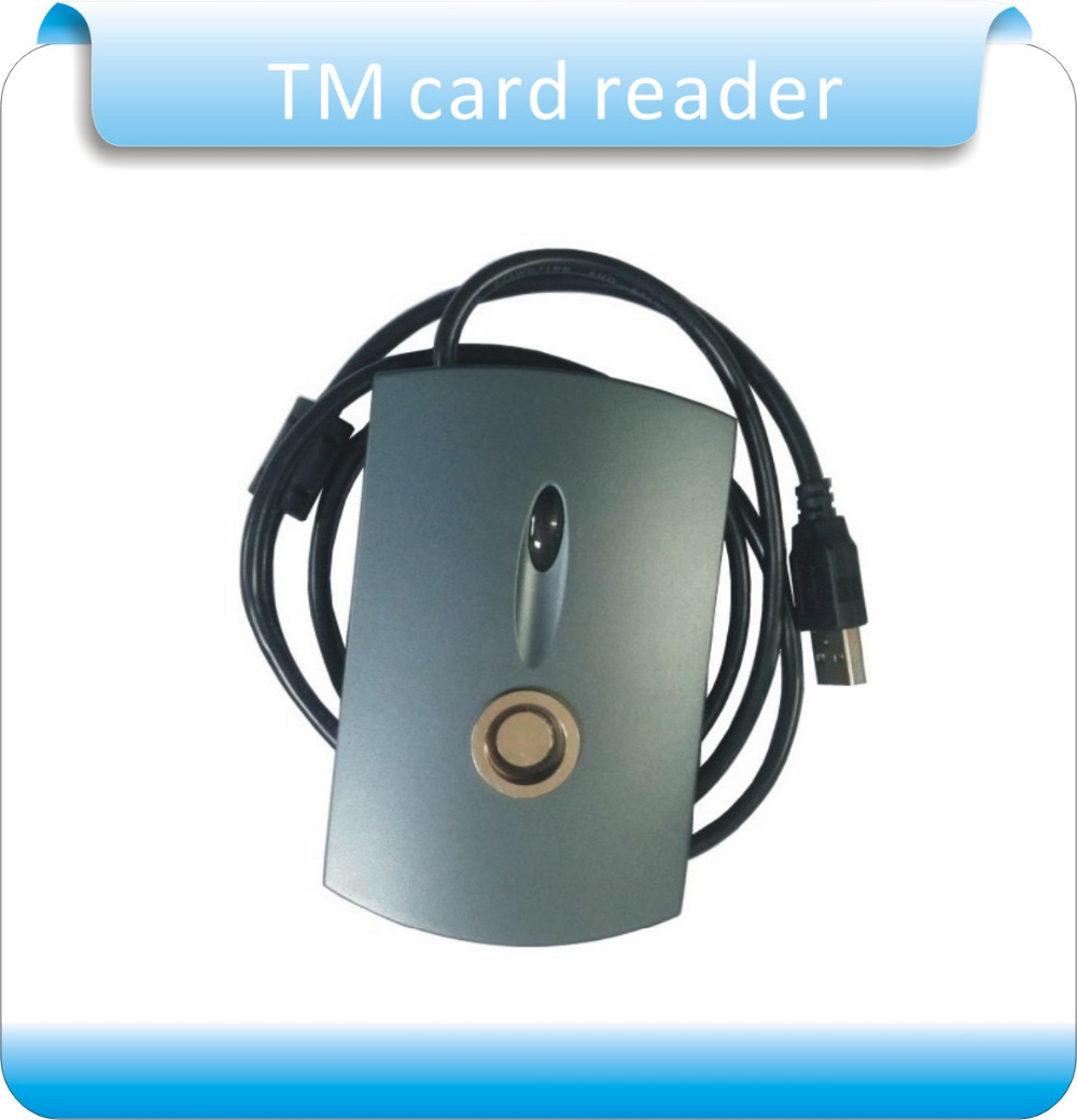 TM card reader USB reader Plug and play can read all the TM card which compatible DALLAS ibutton + 2pcs TM1990A-F5 card free shipping tm card reader 1990a f5 usb reader plug and play 5pcs ds1990a f5 ibtton tag