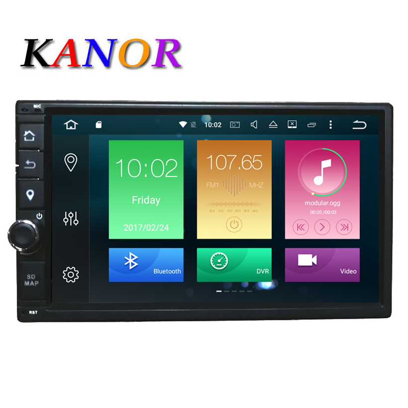 KANOR Octa Core RAM 4G ROM 32G 2 Din Android 8.0 Universel voiture Audio Stéréo Radio Avec GPS WiFi GPS Navigation Vidéo Tête Unité