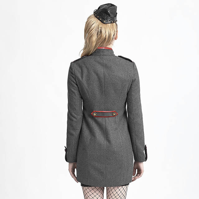 b161fb3bd60 Online Shop Steampunk Military Uniform Long Coats for Women Sexy Army  Cosplay Clothing Jackets with Star Decorated Black Grey | Aliexpress Mobile