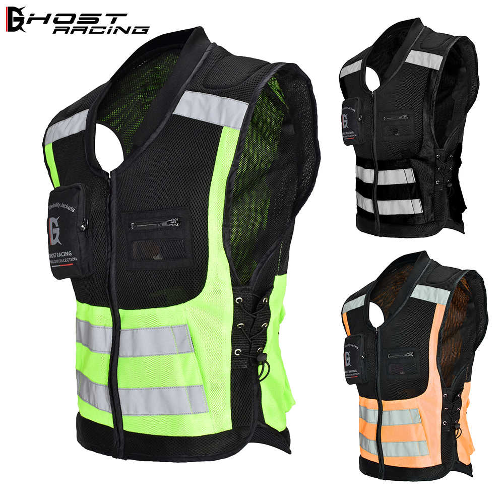 Sport racing biker cycling armor Motorcycle Full Body Armor Jacket Spine Chest Protection Gear Safety protective vest Reflector