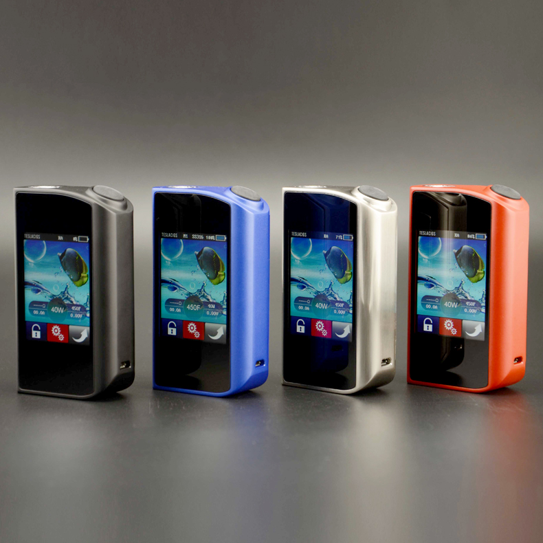 Original Teslacigs Touch 150 TC Mod Tesla 150W Touch Box Mods Vapor Touch Screen Controlled and Adjusted Electronic Cigarettes voopoo drag 157w tc box mod