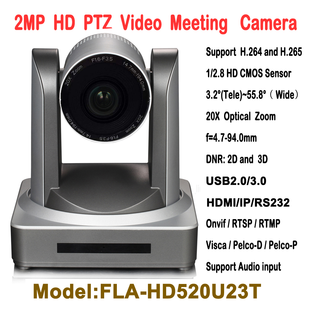 2MP 20X Optical Zoom USB HDMI IP Broadcast and Conference Video PTZ Camera RTMP RTSP Onvif  with wall Ceiling bracket mount h 264 mpeg 4 avc hdmi to dvb c encoder modulator with http rtsp rtmp hls