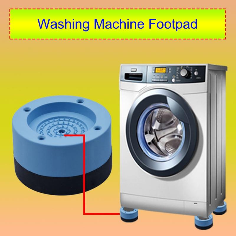 4 Pcs Washing Machine Refrigerator Mute Rubber Mat Anti Vibration Anti Shock Pad E2S