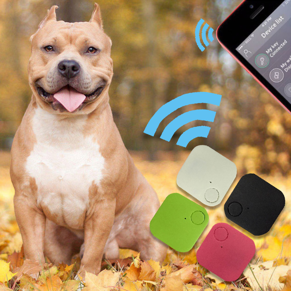 New Suqare GPS Tracker Pets Kids Wallet Keys Alarm Locator Realtime Finder Device For Dogs Cats Pets Finger Equipment Supplies image