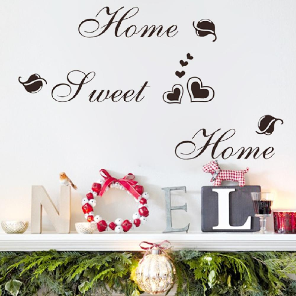 Wall stickers home sweet home - Motto Wall Stickers Home Sweet Home
