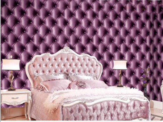 Online Shop Modern Three Dimensional Soft Leather Soft Pack Luxury Vinyl Wallpaper  Living Room Bedroom Wall Romantic Purple Wall Paper 41260 | Aliexpress ... Part 45