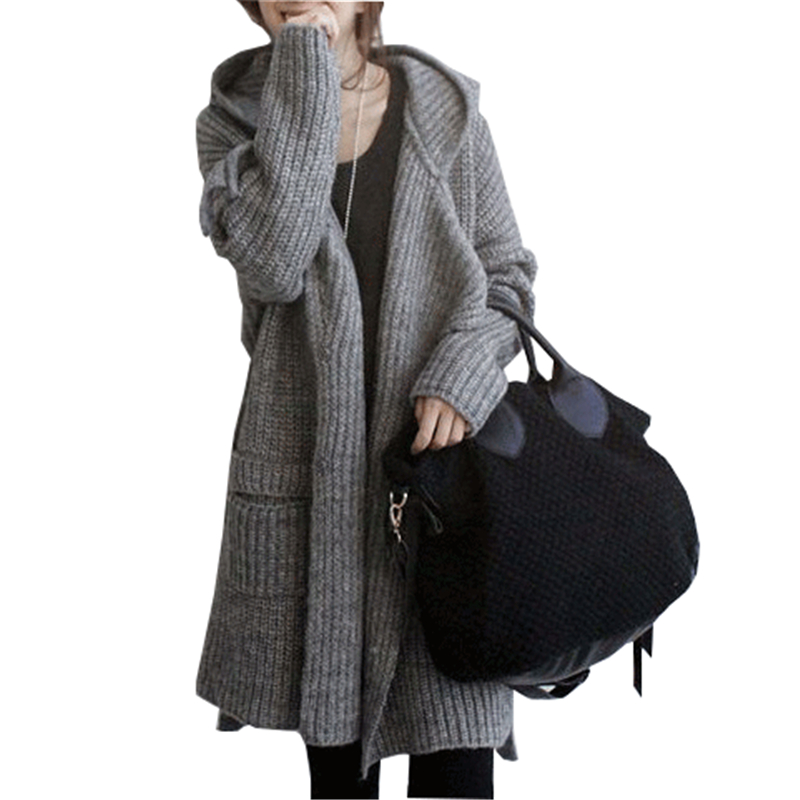 Autumn and winter thick loose sweater cardigan coat Korean version ...