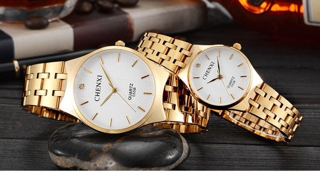 CHENXI Brand Waterproof Women Gold Ladies Quartz Luxury Watches Golden Wrist watches Relogio Feminino Montre Femme Reloj Mujer