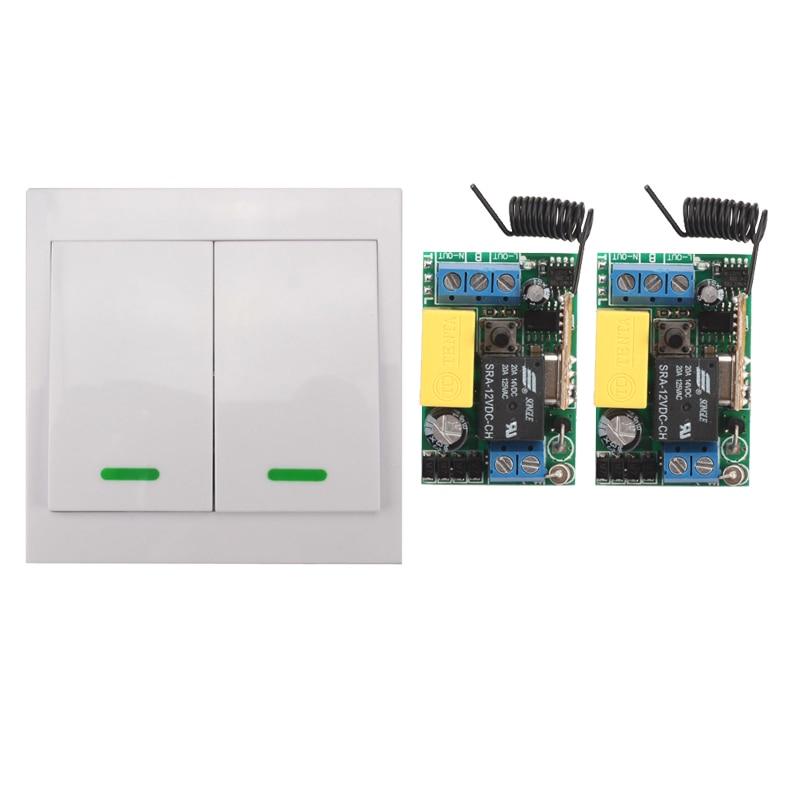Maison intelligente 220 v Plafonnier Lumière Ampoule LED Commutateur de Télécommande Sans Fil de Panneau De Mur de L'entrée du Transmetteur Sortie Mini RF récepteur