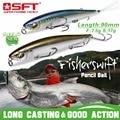 Spor ve Eğlence'ten Balıkçılık Yemleri'de SFT Balıkçılık Lures 90mm 7.5g 17g 70mm 4.3g 10gHard Kalem Lures Yüzen/Batan yapay Deniz Bas balık yemi