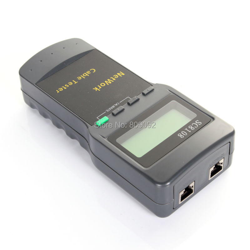 Wireless Portable SC8108 LCD Display Wireless Network Cable Tester Meter RJ45 LAN Cable Phone Line Tester
