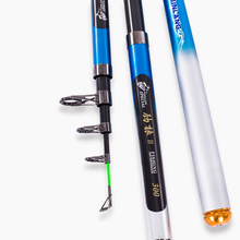 Carbon Fiber Telescopic Fishing Rod Pole Distance Throwing Spinning Fishing Rod Power XH 2.1/2.4/2.7/3.0/3.6M Fishing Tackle