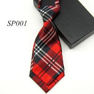 Новый детский двухслойный галстук с принтом в виде шотландской сетки, Детский костюм для мальчиков и девочек, аксессуары, галстуки с предва...