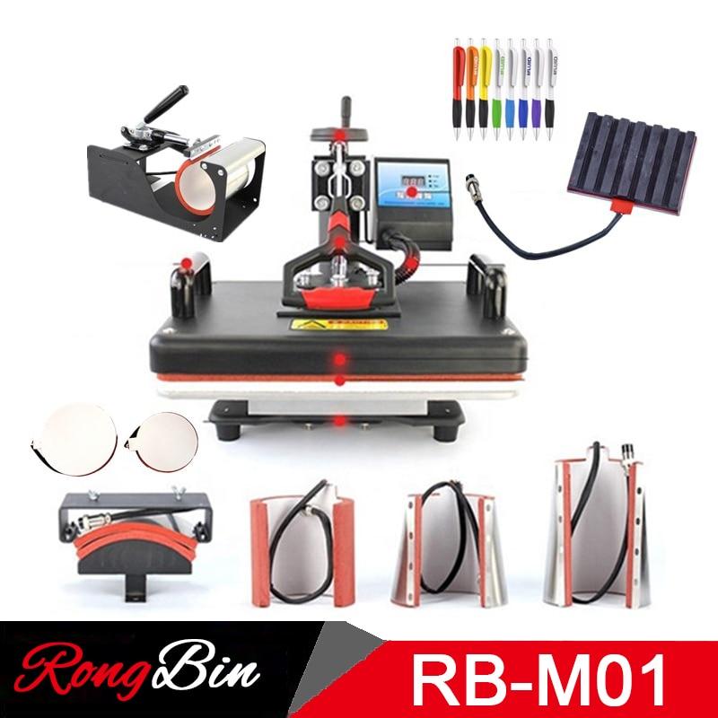 Multifunctional 30 38CM Combo Heat press Machine Sublimation Printer 2D Heat Transfer Machine for Pen Cap