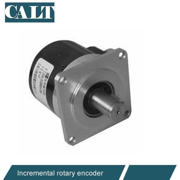 CALT Square frange 12mm 15mm Solid  keyway shaft incremental rotary servo Spindle encoder 5V line driver out GHSF58 CNC system rotary encoder hs5208 01g 1024bz1 5l hs3806 01g 2000bz1 12 24c