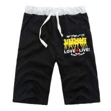 New Fashion Anime LoveLive Yazawa Nico Casual Shorts Short Pants Men Jogger Fitness Knee Length High Quality Trousers