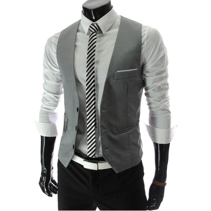 X-Future Mens Fashion Formal Slim Fit Business Dress Suits Vest Waistcoat