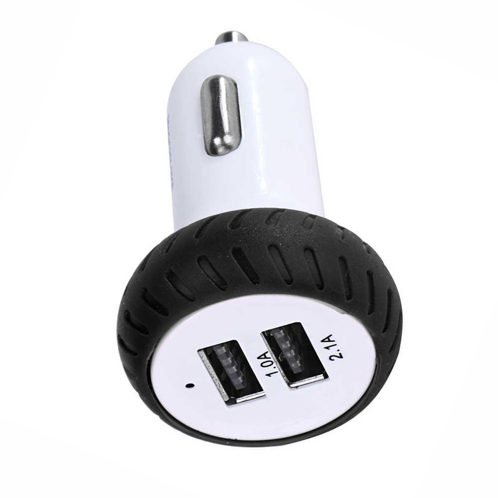 2019 Mini Dual 2 puertos 12 V Cargador USB Auto coche Cargador adaptador de carga para teléfono móvil Carregador de Carro