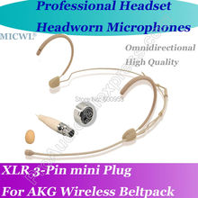 MICWL New Design Wireless Headset Microphone for AKG Samson Gemini Comfortable Headworn Mic with Omni- Directivity