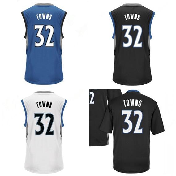 2015 Draft Pick 32 Karl Anthony Towns Jersey Minnesota College Kentucky  Wildcats Towns Basketball Shirt Black Blue White Men s 4af3598b7