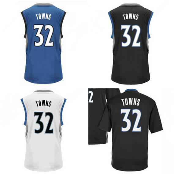 official photos d1f59 ad89e 2015 Draft Pick 32 Karl Anthony Towns Jersey Minnesota ...