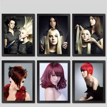 Barbershop New Hair Styling Beauty Salon Pictures Wall Decor Painting Hair Salon Fashion Hair Poster And Prints HD0987(China)