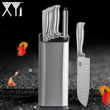 XYj Hot Stainless Steel Knives Kitchen Knives Light Weight Paring Utility Santoku Chef Slicing Bread Kitchen Accessories Tools(China)