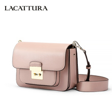 LACATTURA Women Messenger Bags Designer Luxury Handbag Women Leather Shoulder Bag Crossbody for Lady Small Clutch Fashion Purse