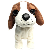 MUQGEW Adorável Cães Animais de Estimação Eletrônicos Stand Pé Controle de Som Brinquedo Interativo Robô 8 reação Presentes brinquedos para crianças Figuras de Brinquedo