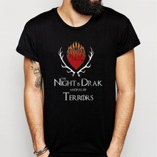 51f70eb9c Game Of Thrones Baratheon And R'Hllor The Night Is Dark And Full Of Terrors  Men'S T Shirt