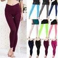 Moda Otoño Invierno Super Flexible Mujeres leggings De Talle Alto Flaco Elástico Pantalones Sexy Soft leggins Pantalones Lápiz 10 Colores