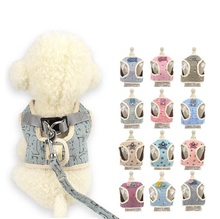 Korean Style Soft Cat Harness Breathable Vest for Small Medium Pet Leash Include Dog Clothes S M L