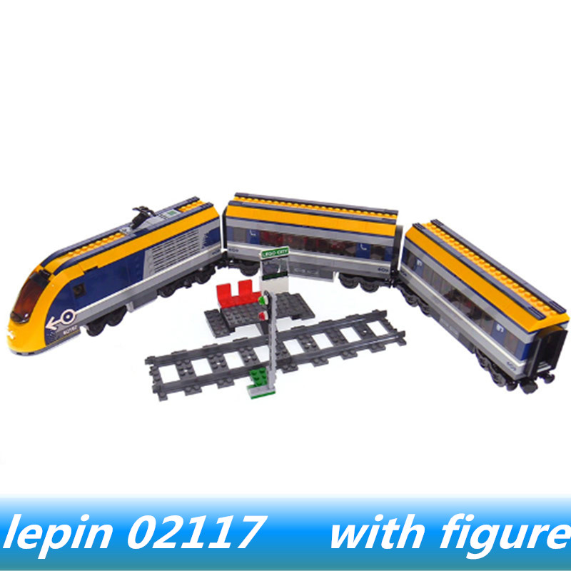 Lepin 02117 lepin City Series The Passenger Train Set Compatible legoing City legoing 60197 Building Blocks Toys for child Model