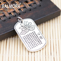 New Arrival 100% Pure 999 Silver Jewelry Lotus & Buddhistic Sutra Charms Pendants for Necklaces Women Men Accessories SY11437