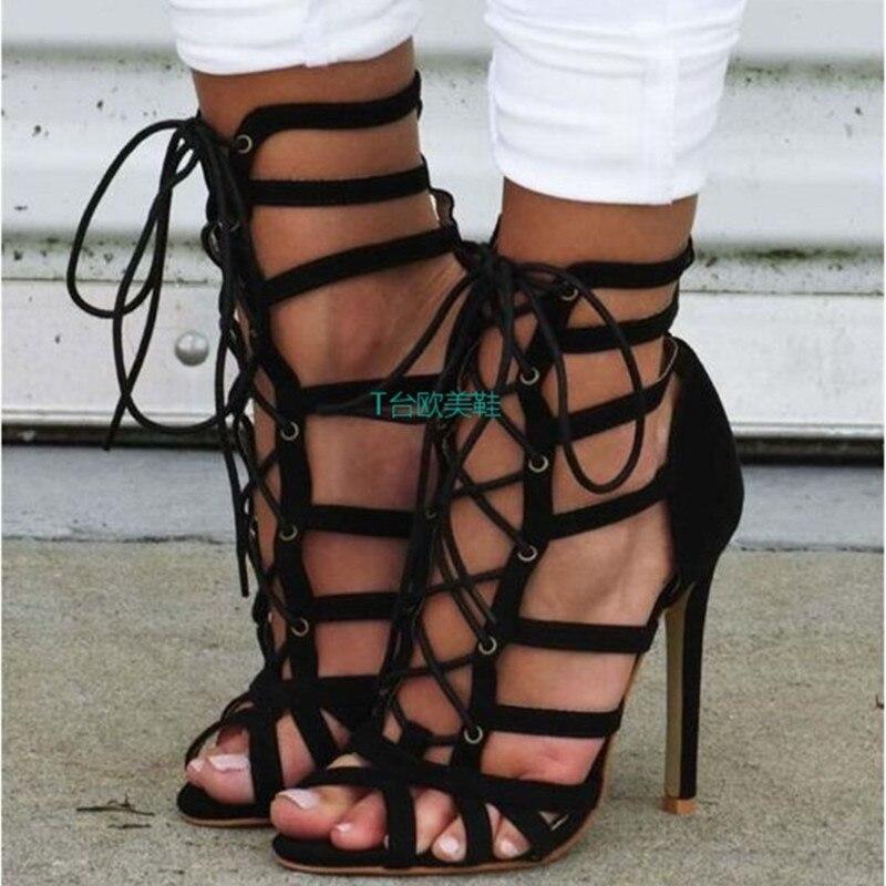 Sexy Cross Strap Sandals Fashion Quality Gladiator Lace Up Pumps Shoes High Heels Women Sandals Lace Up Pumps Peep Toe Stiletto gigabyte ga x99 ud4 original used desktop motherboard x99 ud4 x99 lga 2011 v3 ddr4 64g sata 3 usb3 0 atx on sale