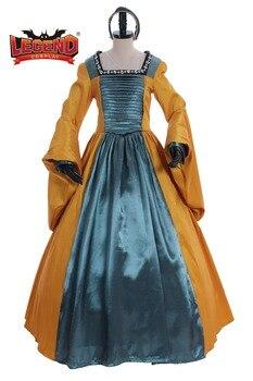Medieval Dress Cosplay Queen Anne Boleyn Brown Renaissance Faire Tudor Court cosplay costume dress