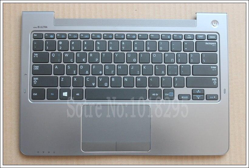 For Samsung NP530U3C NP530U3B NP535U3C 530U3B 530U3C NP540U3 NP532U3C NP532U3A Greek GK keyboard Silver palmrest cover for samsung np530u3c np530u3b np535u3c 530u3b 530u3c np540u3 np532u3c np532u3a with c shell red canadian french keyboard