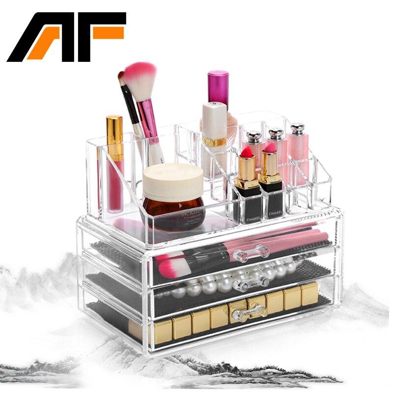 AF Acrylic Makeup Organizer Storage Box Kosmetik Organizador de maquiagem Makeup Laci Penyimpanan Makeup Organizer C43