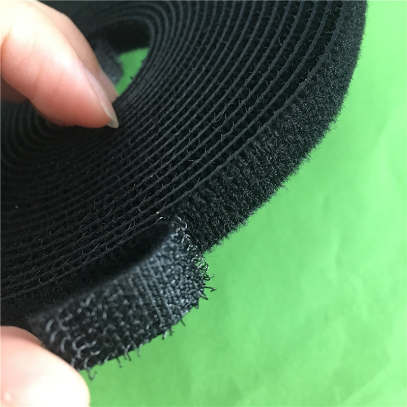 1pc 5M YT496Y BLACK Hookloop Nylon Fastening Tape Magic Tape Strap Wide 10 mm Long/Short Hook Back to Back Cable Tie