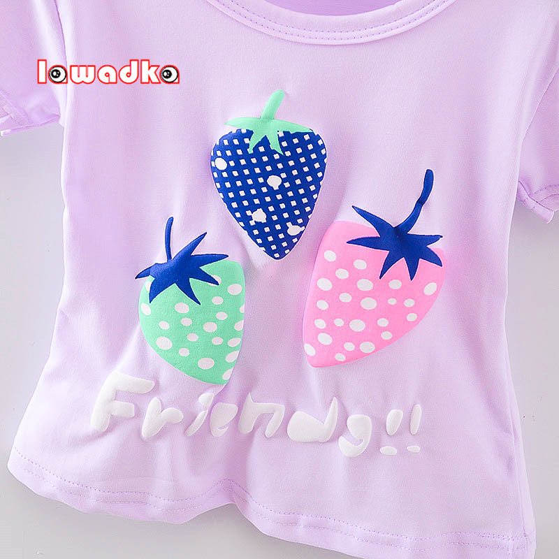 New-Sport-Baby-Girls-Boys-t-shirt-Short-Sleeve-Strawberry-Pattern-t-shirts-for-Girls-Cotton-Children-Clothes-2