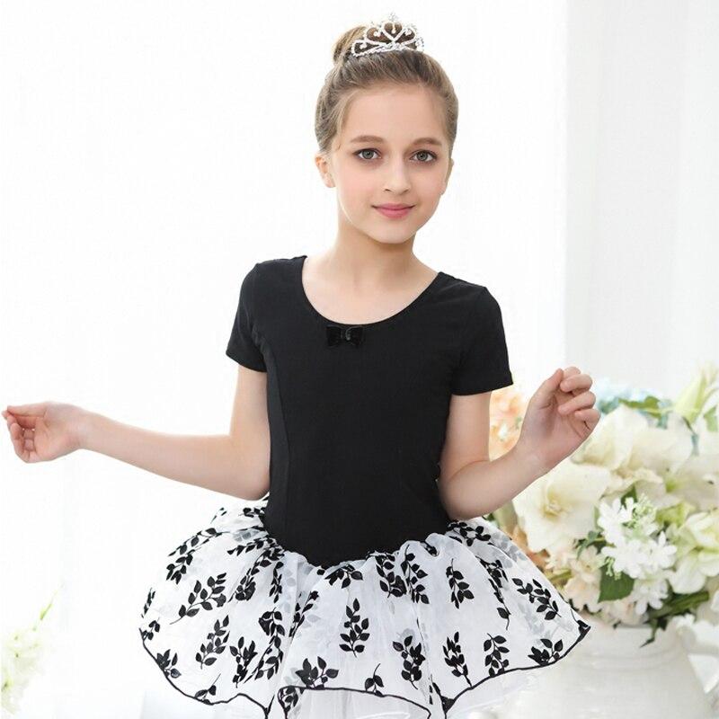 OnlyEvening Ballet Tutu Dancing Costume Girls High Quality Children's Black Tutu Swan Lake Professional Short Sleeve Ballet Dance Skirt