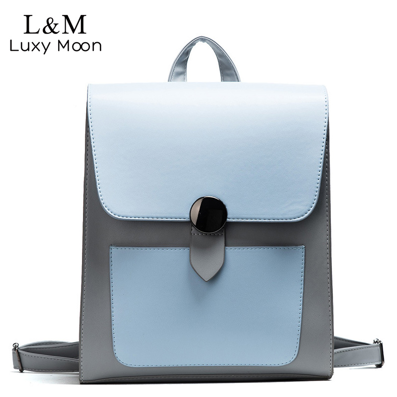 Women Backpack Women's PU Leather Backpacks Female School Backpacks For Teenage Girls Shoulder Bags Student Casual Bag XA1174H mara s dream 2018 backpack simple style women pu leather backpacks for teenage girls school bags vintage solid shoulder bag