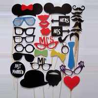 31 sztuk nowe śmieszne Photo Booth DIY zdjęcie rekwizyty dekoracje ślubne urodziny boże narodzenie Party Favor maska fotografia materiały eksploatacyjne