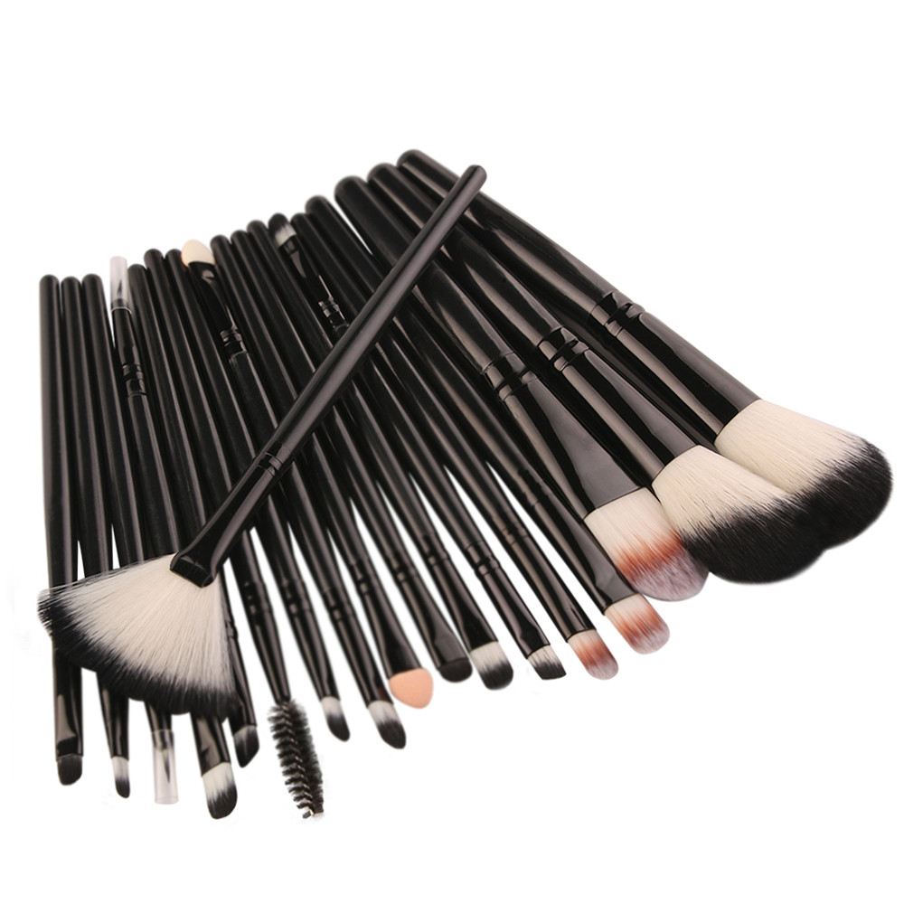 все цены на 18Pcs a Set Eye Shadow Eyebrow Lip Brush Makeup Brushes set Tool Powder Foundation Blusher Concealer Pro Make up Brush Cosmetic онлайн