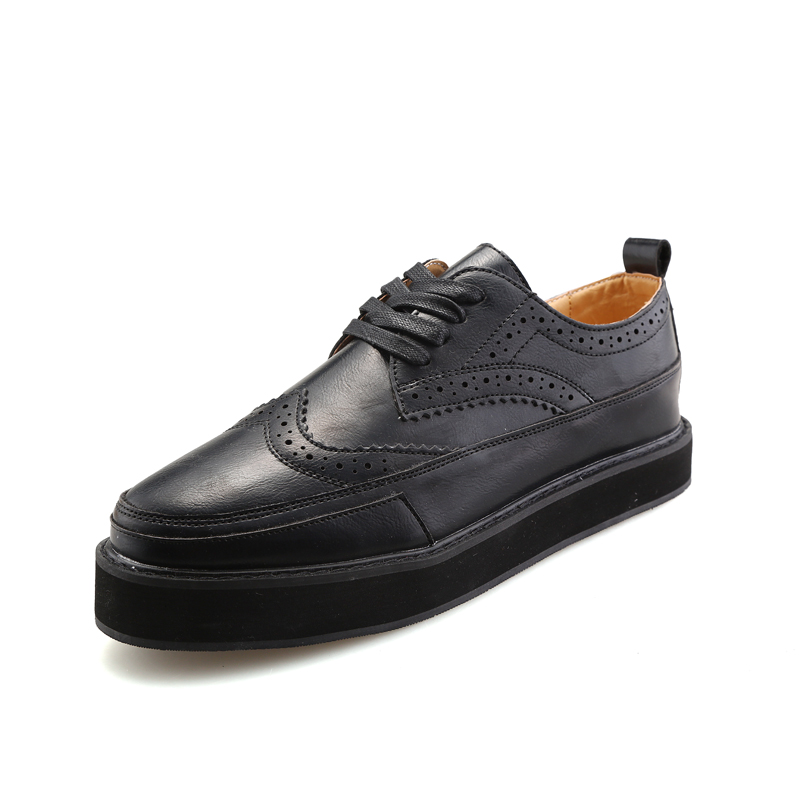 2017 New Spring Autumn Leather Couple Shoes For Men Unisex Flat Casual Shoes High Quality Breathable Brogue Shoes Men Size 36-44 new 2016 spring autumn summer fashion casual flat with shoes breathable pointed toe solid high quality shoes plus size 36 40
