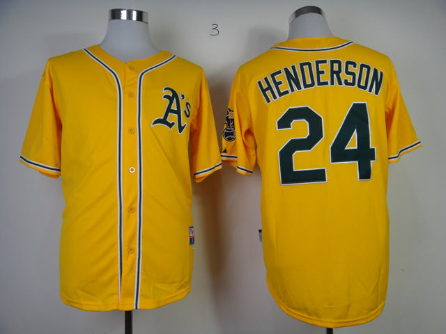 huge discount 4f270 8a865 oakland athletics 24 rickey henderson 2014 green jersey