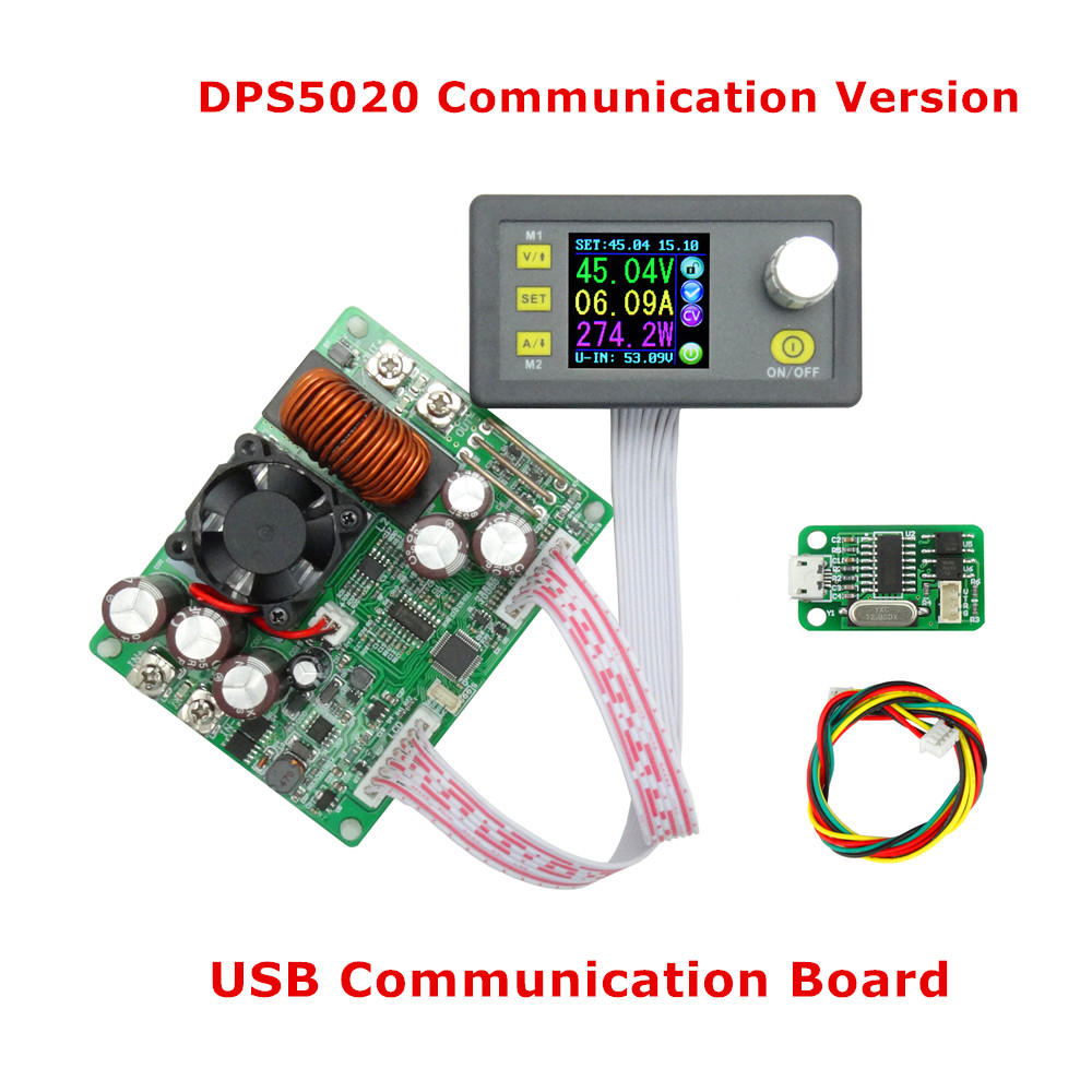 DPS5020 50V 20A constant voltage current converter LCD voltmeter Step-down communication digital Power Supply  21%off dps3012 adjustable constant voltage step down lcd power supply module voltmeter voltage regulators stabilizers best quality